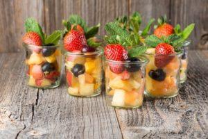 Zur Agape kann man auch Früchte servieren, wenn es sehr heiß ist.